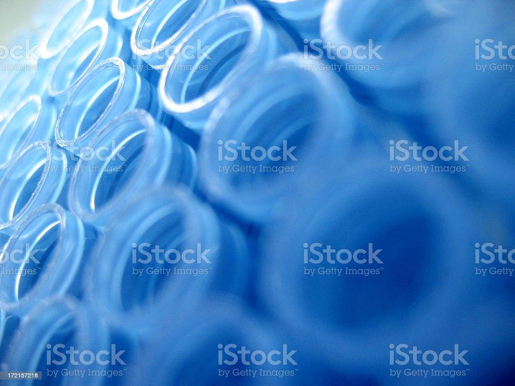 Blue pattern matrix macro stock photo