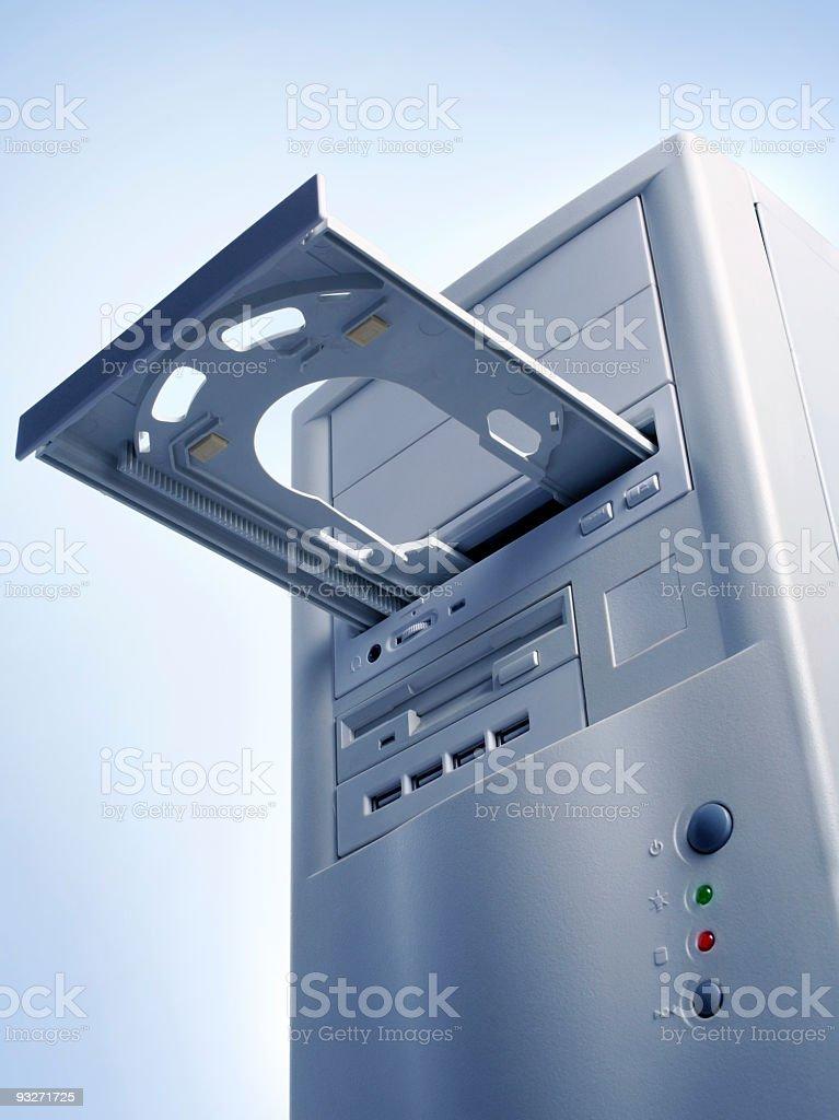 Blue PC stock photo
