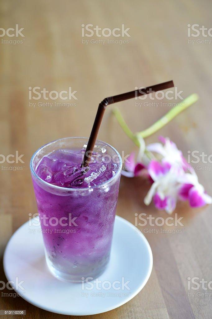 Blue Pea Drink stock photo
