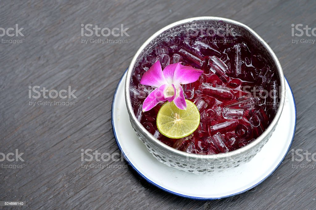 Blue Pea Drink stock photo