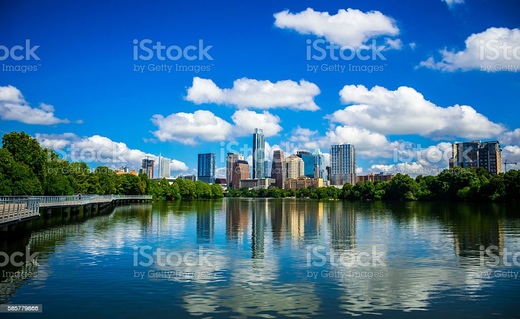 Blue Pearl Capital City Austin Texas stock photo