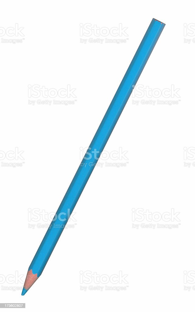 Blue pencil royalty-free stock photo