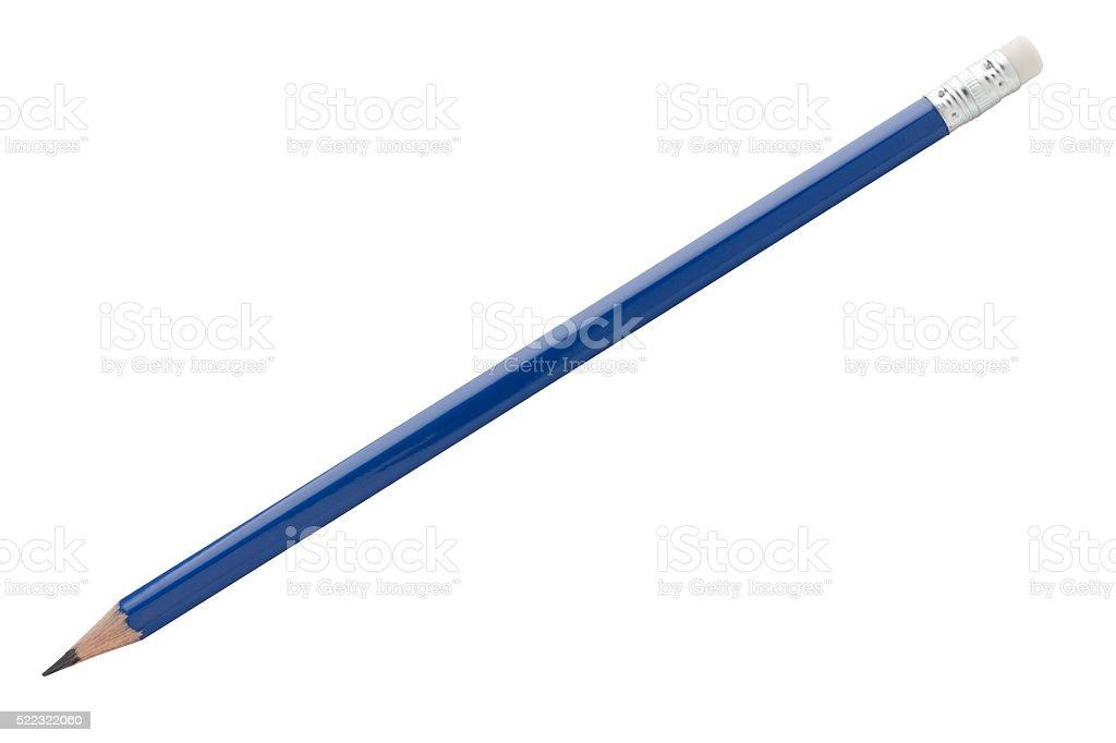 Blue pencil stock photo