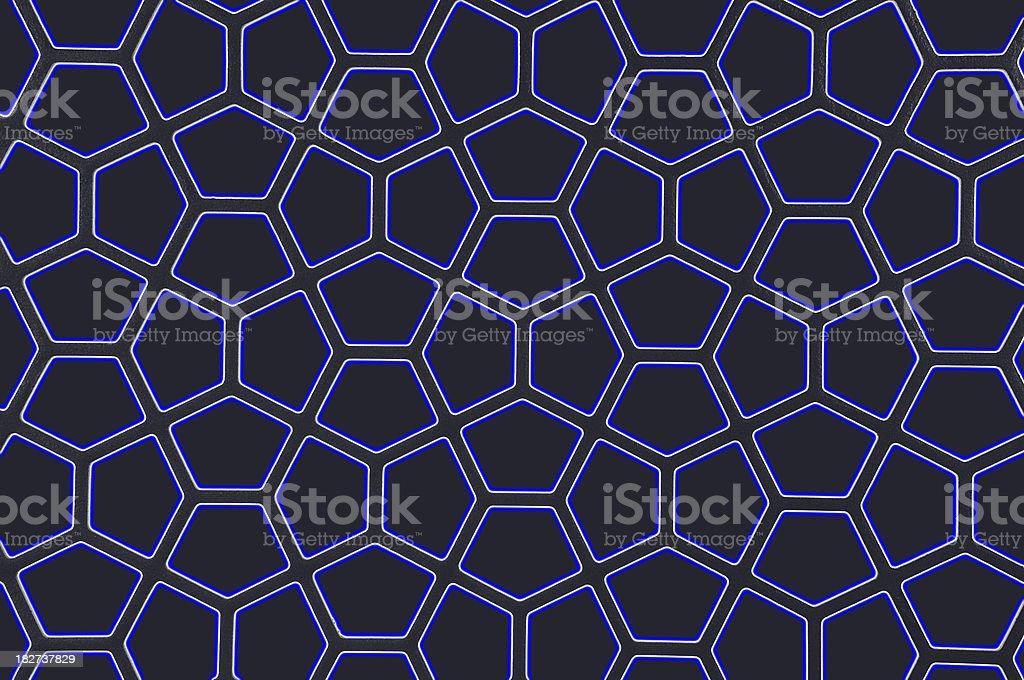 Blue Pentagon stock photo