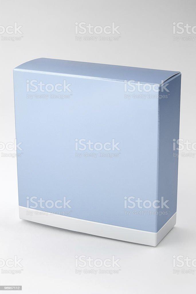 blue perfume box stock photo