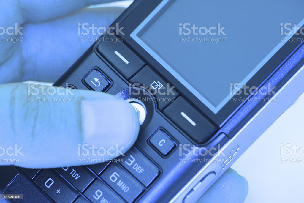 Blue Phone royalty-free stock photo