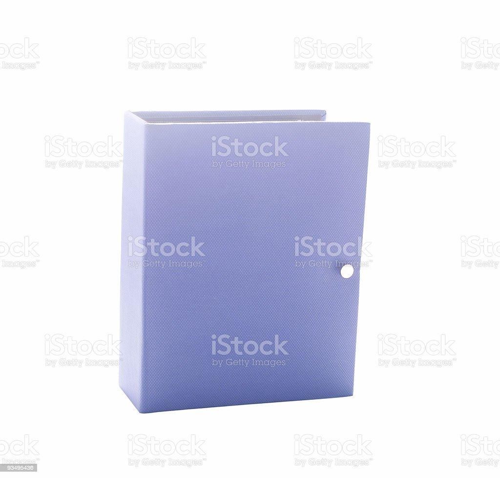 Blue photo album isolated on white stock photo