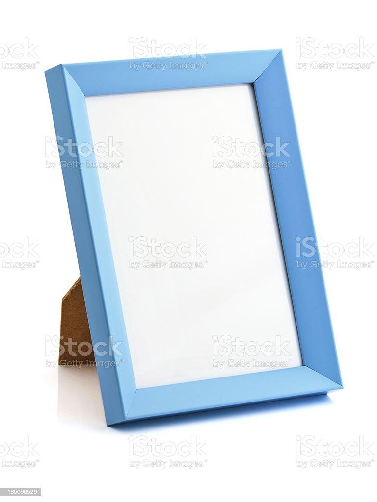 Blue photo frame royalty-free stock photo