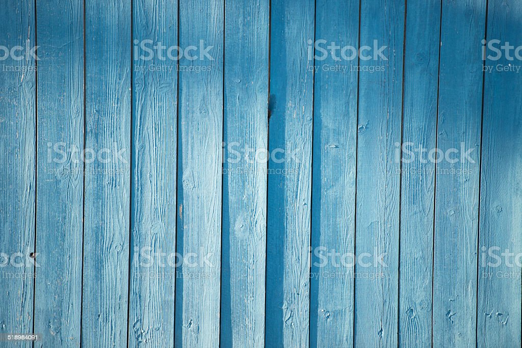 blue picket fence royalty-free stock photo