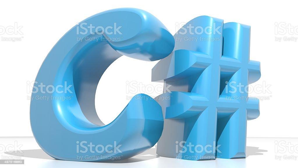 C# Blue stock photo