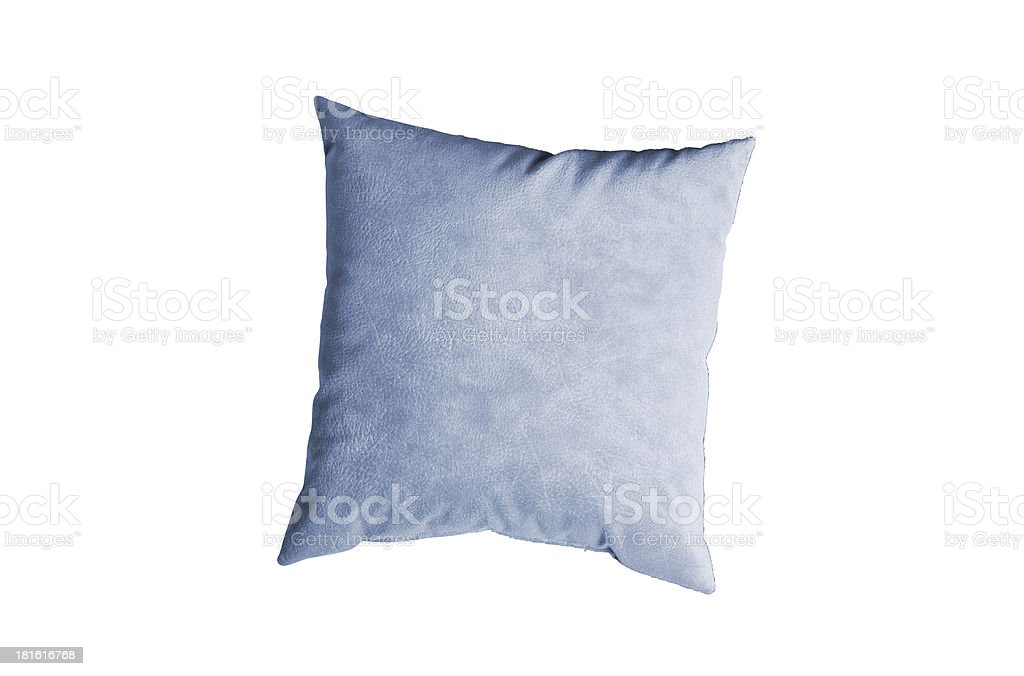 blue pillow isolated on the white royalty-free stock photo
