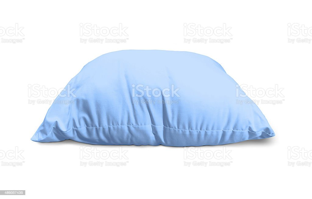 blue pillow stock photo