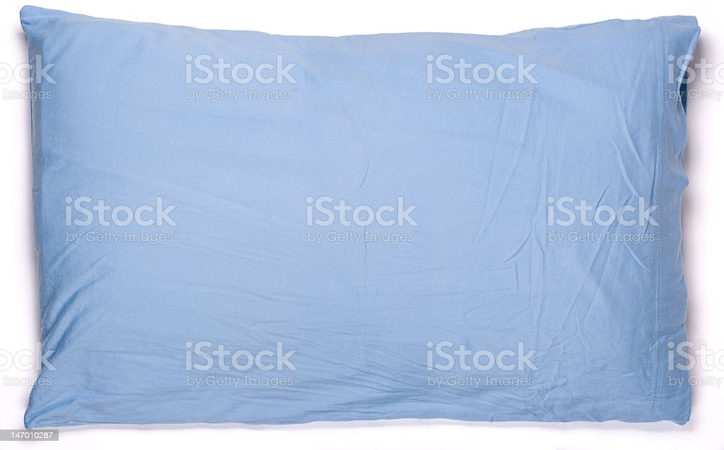 blue pillow w/ clipping path stock photo