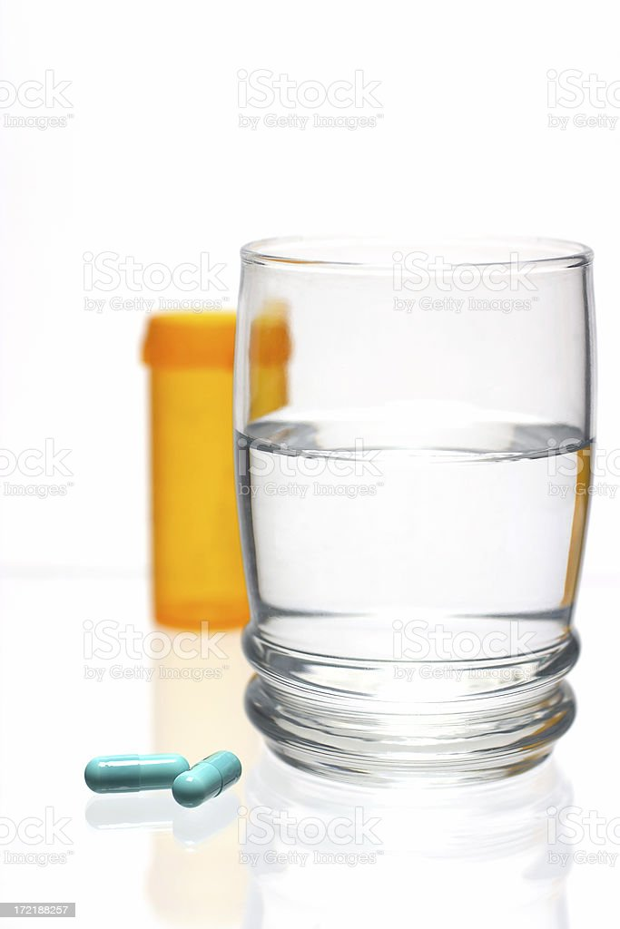 Blue Pills stock photo