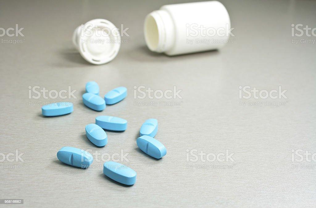 Blue pills royalty-free stock photo