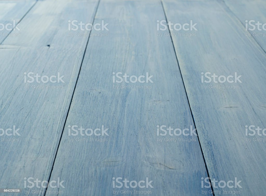 Blue Pine wood background. Weathered old wood. Rustic knotted wood. stock photo