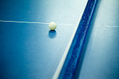 Blue ping pong tennis table