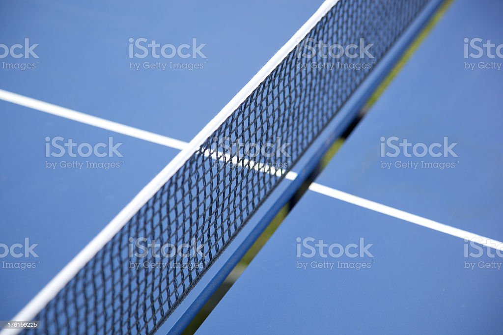 Blue Ping-pong table field royalty-free stock photo