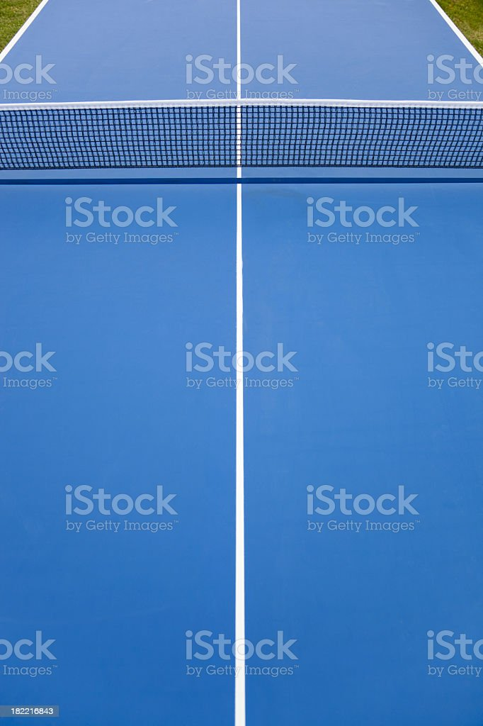Blue Ping-pong table field stock photo