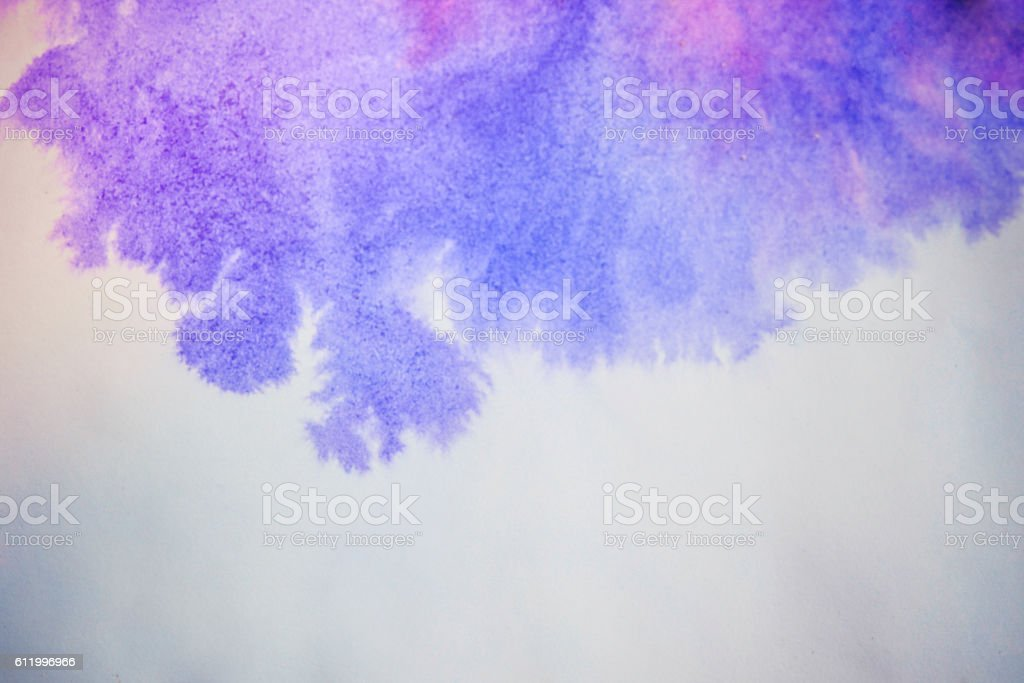Blue pink ink spreads stock photo