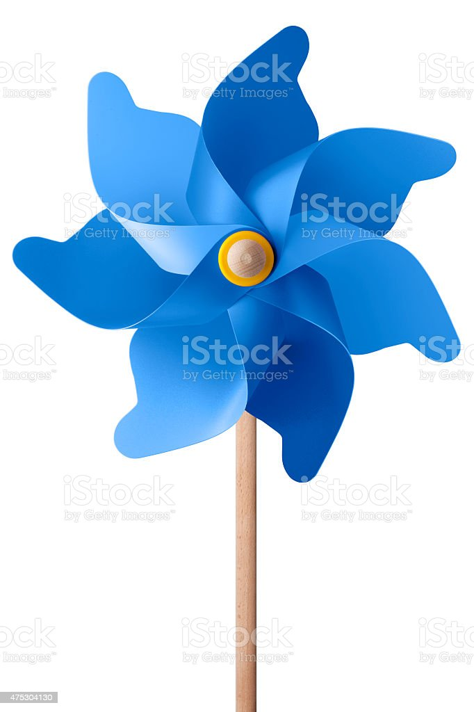 Blue pinwheel stock photo