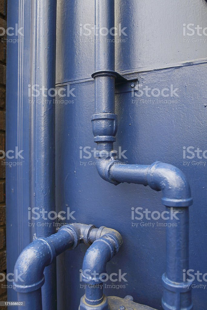 blue pipes royalty-free stock photo