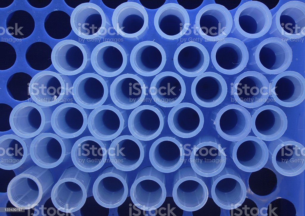 Blue pipette tips royalty-free stock photo