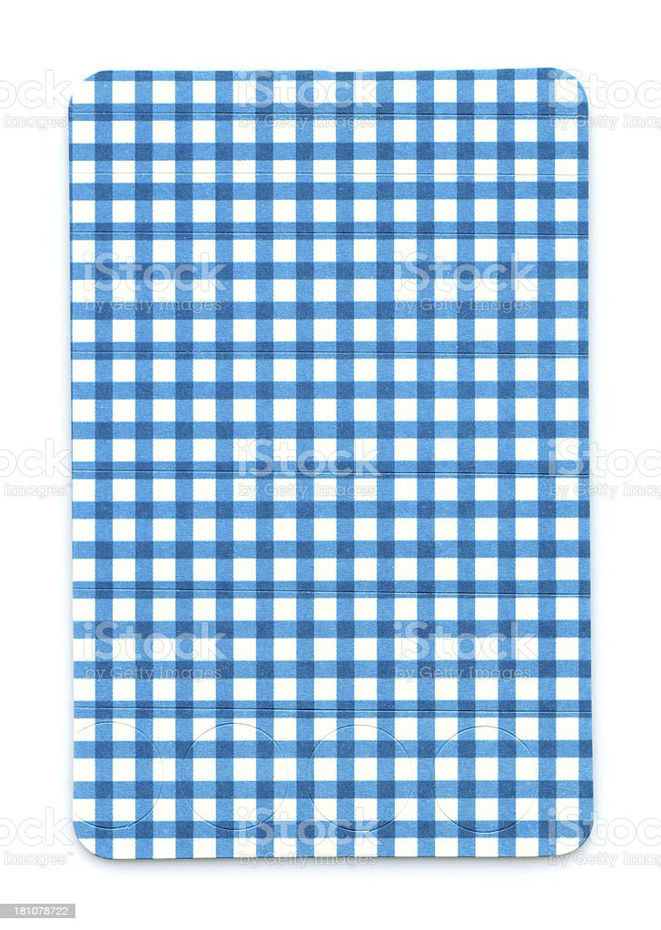 Blue Plaid Card paper textured background isolated royalty-free stock photo
