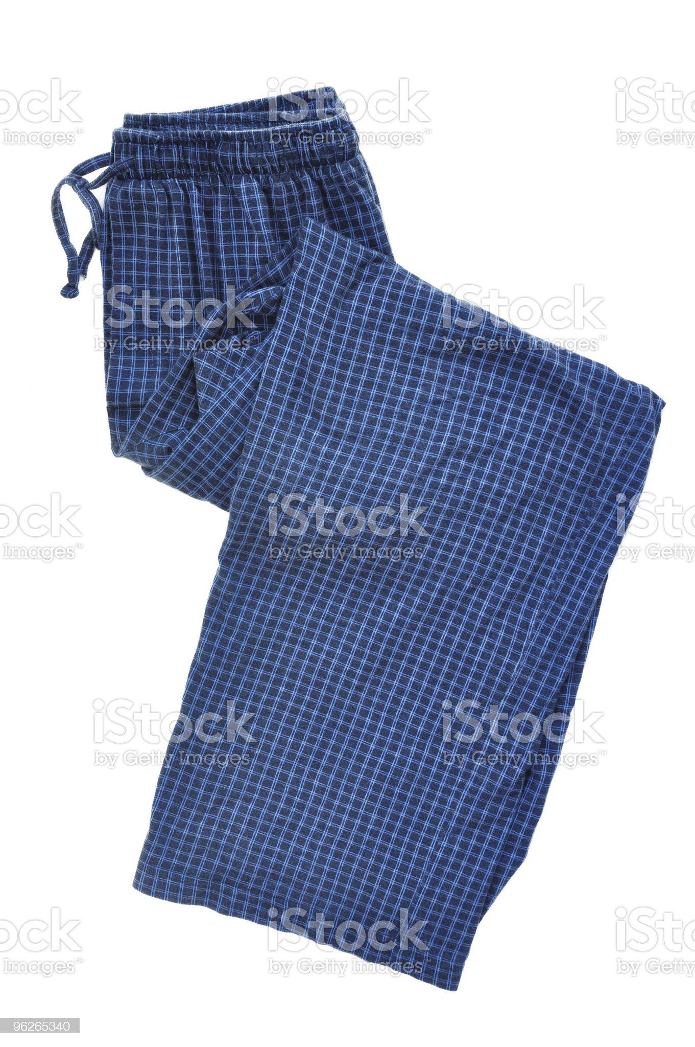 Blue Plaid Pajama Pants royalty-free stock photo