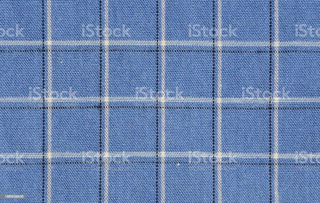 Blue Plaid royalty-free stock photo