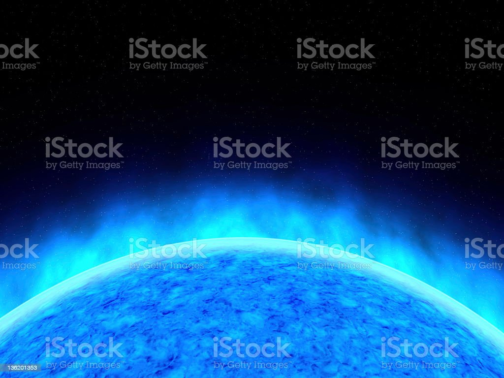 Blue planet close-up royalty-free stock photo