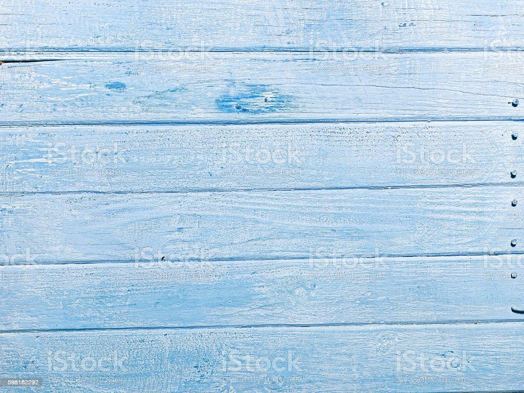 Blue plank background stock photo