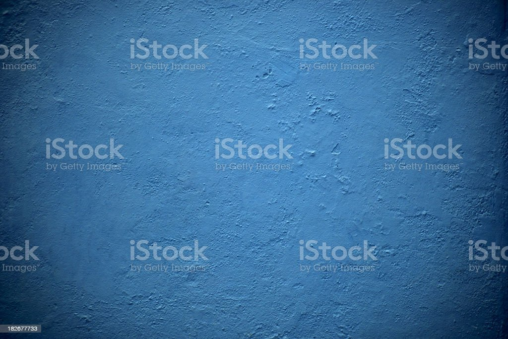 Blue Plaster Wall, Texture Background stock photo