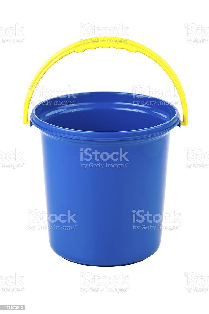 Blue Plastic Bucket royalty-free stock photo