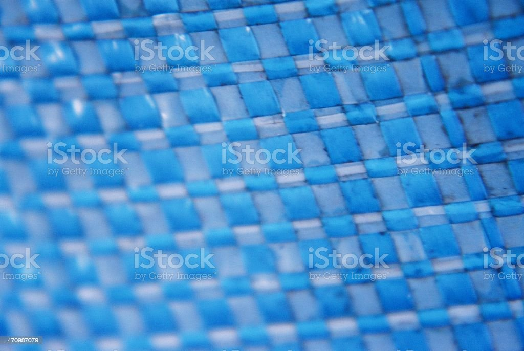 Blue plastic mesh royalty-free stock photo