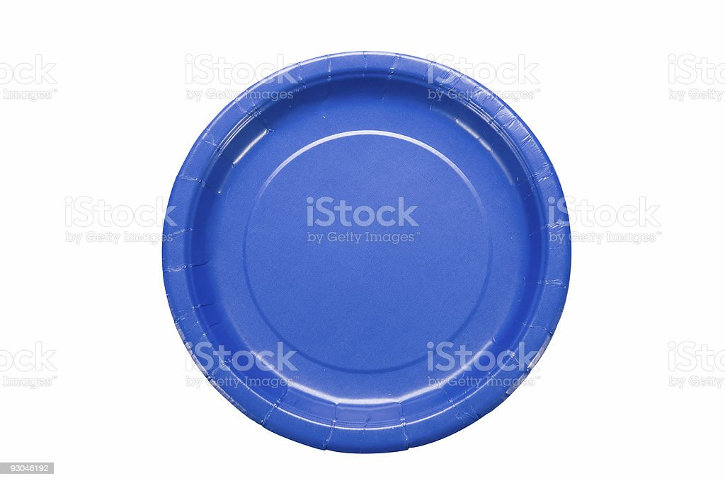 Blue Plastic Plate royalty-free stock photo