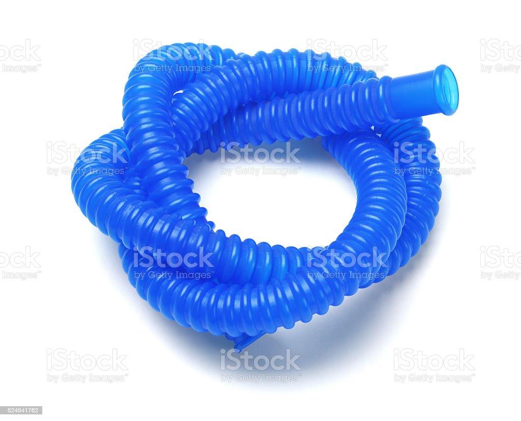 Blue Plastic Tubing stock photo