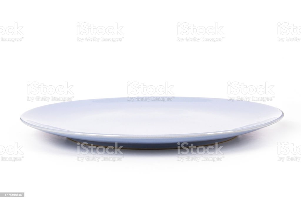 Blue Plate stock photo
