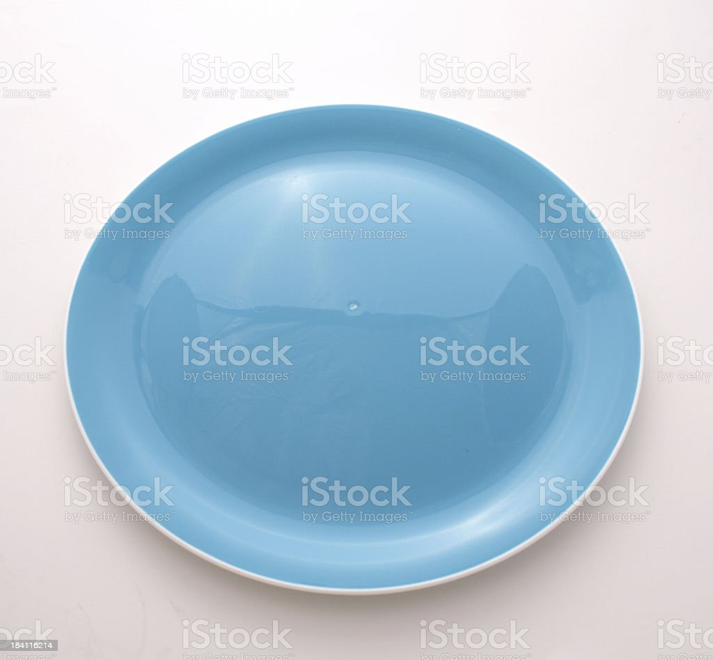 Blue plate stock photo