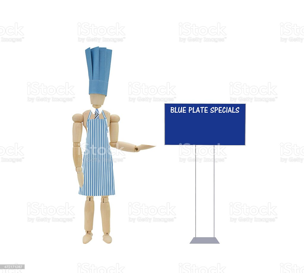 Blue Plate Specials Head Chef royalty-free stock photo