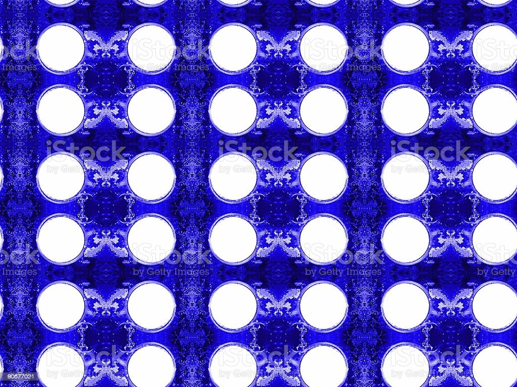 Blue Plate With Holes royalty-free stock photo