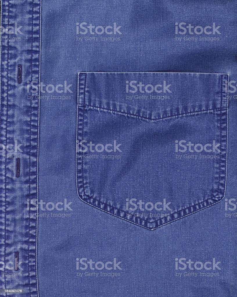 Blue pocket royalty-free stock photo
