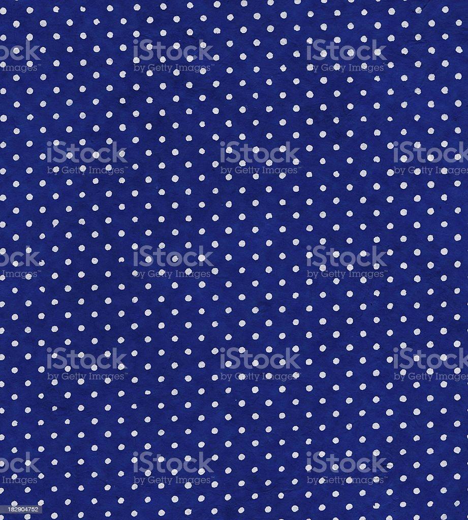 blue polka dot paper royalty-free stock photo