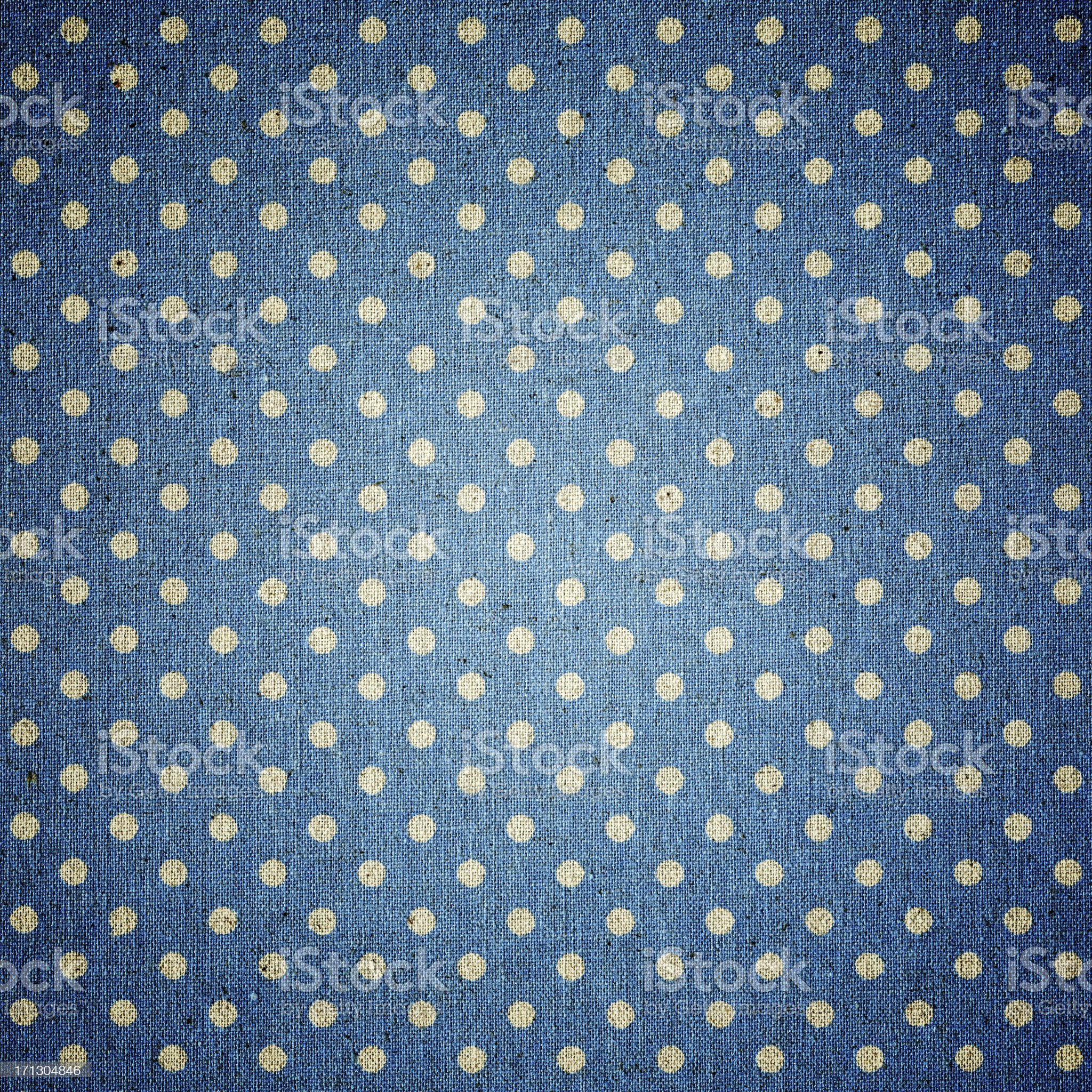 Blue Polka dots fabric background textured royalty-free stock photo