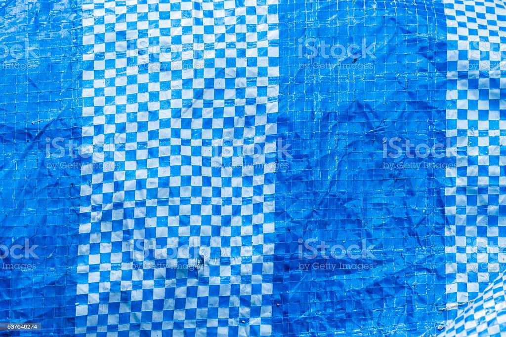 Blue polyester fabric stock photo