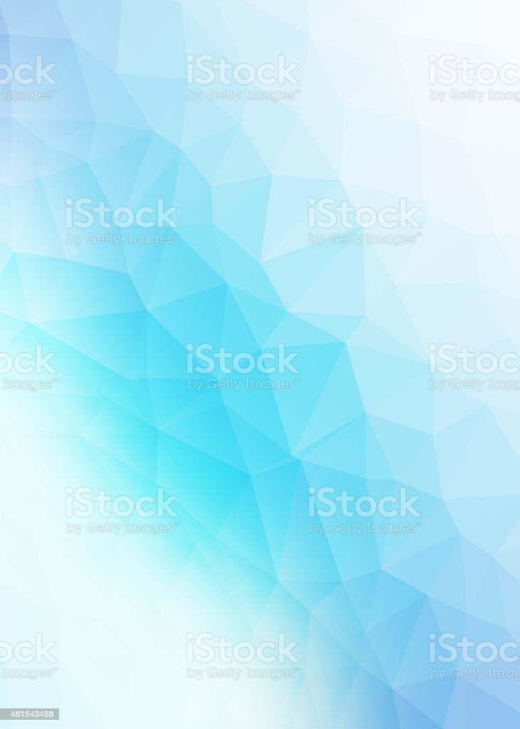 Blue polygonal background stock photo