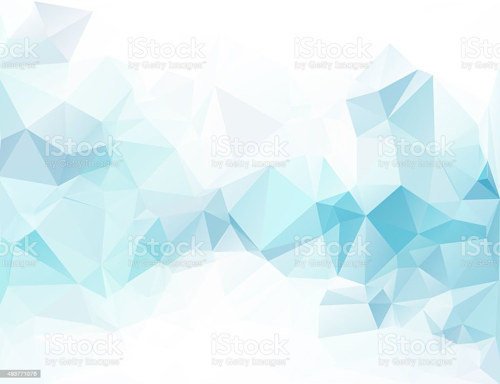 Blue Polygonal Mosaic Background, Creative Design Templates stock photo