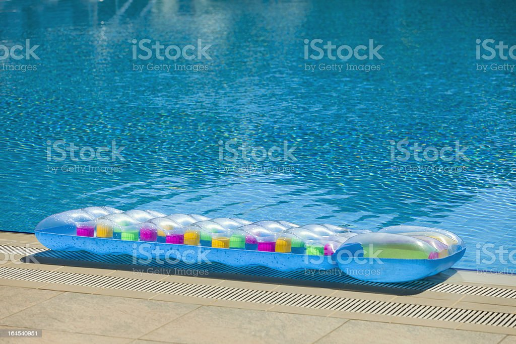 Blue Pool Raft royalty-free stock photo