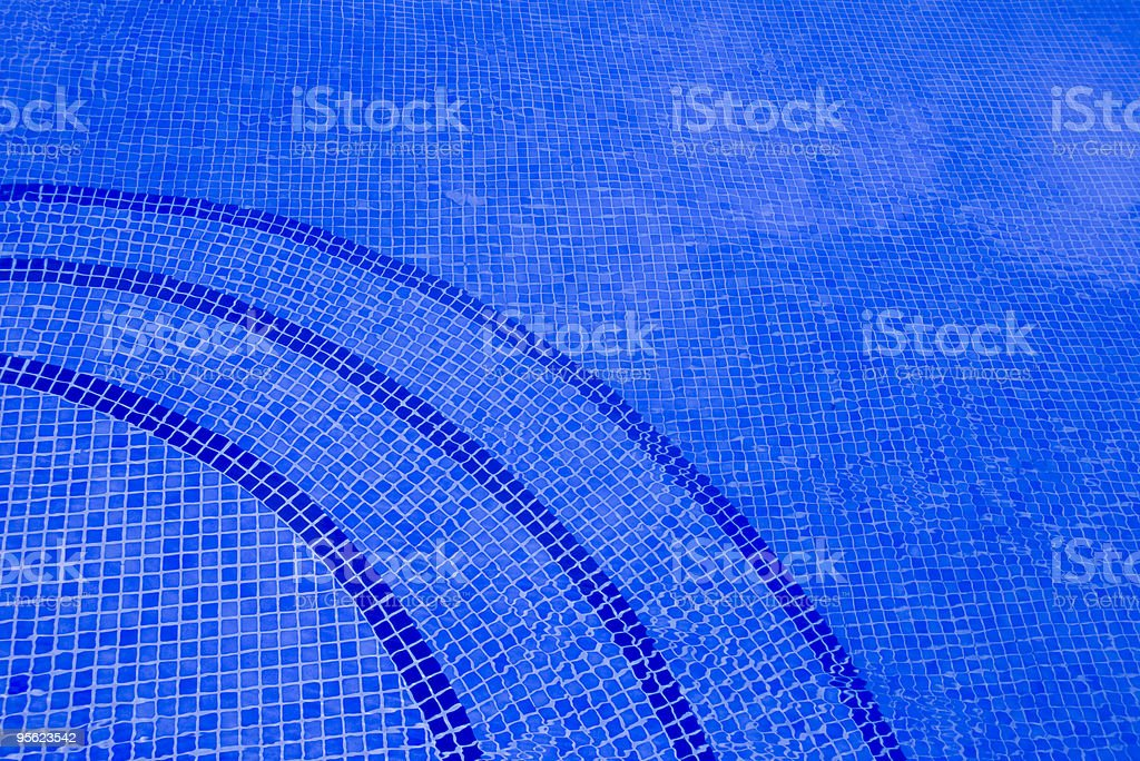 blue pool stairs royalty-free stock photo