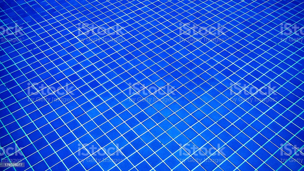 Blue Pool Tile Background royalty-free stock photo